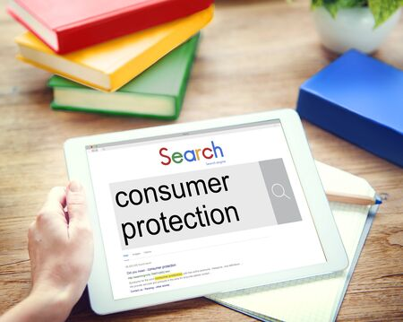 consumer protection: Consumer Protection Legal Rights Regulations Concept Stock Photo