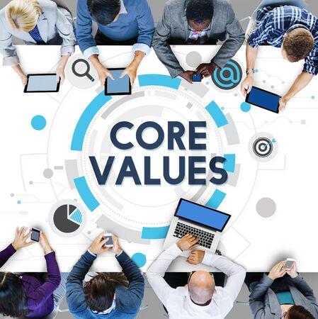moral: Core Values Principles Ideology Moral Purpose Concept Stock Photo