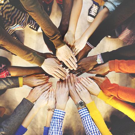 Team-Teamwork Zusammenhalt Collaboration-Konzept