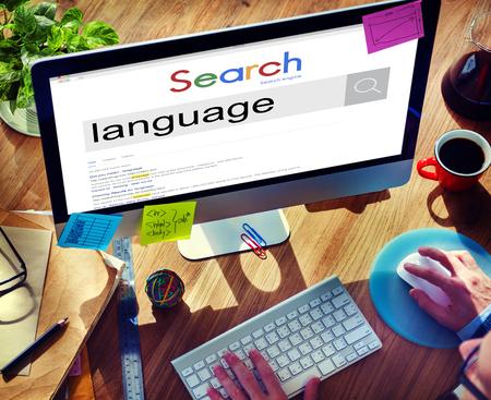 Businessman Connect Internet Search Website Concept