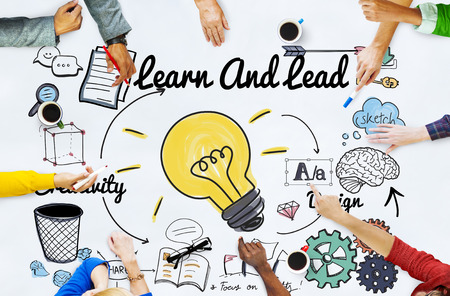 Learn and Lead Education Knowledge Development Concept 版權商用圖片 - 53753385