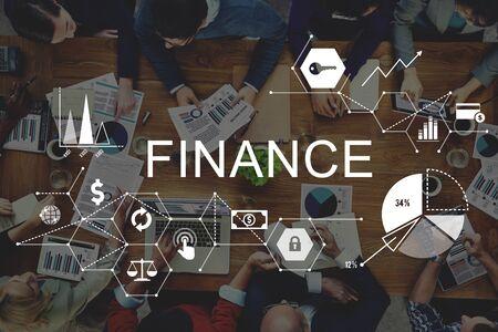 business project: Finance Money Debt Credit Balance Concept Stock Photo