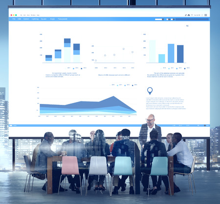 statistics: Business Meeting Conference Corporate Collaboration Concept