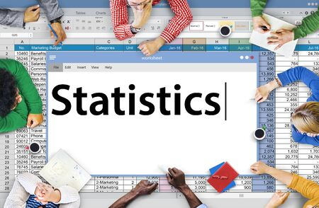 Statistics Stats Analysis Research Economic Financial Concept