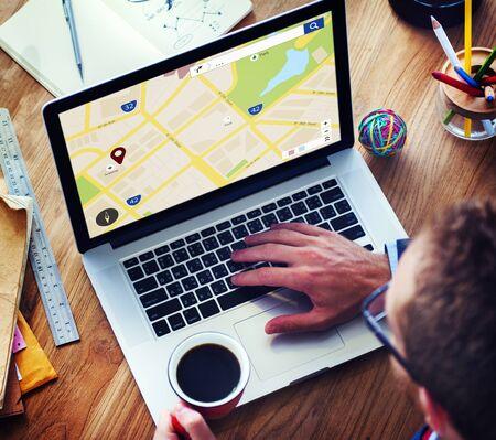 Mapping Ubicación Directriz concepto de navegación