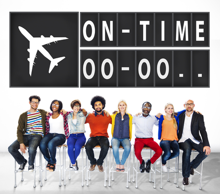 punctual: On Time Punctual Efficiency Organization Management Concept Stock Photo