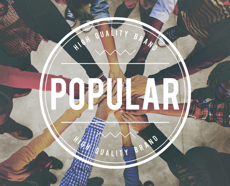 popularity: Popular Popularity Power Trendy Wanted Well Concept Stock Photo