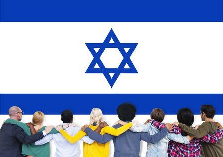 israeli: Israel Country Flag Liberty National Concept