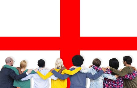 british ethnicity: England Flag Country Nationality Liberty Concept Stock Photo