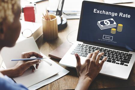 exchange rate: Exchange Rate Finance Trade Website Online Concept