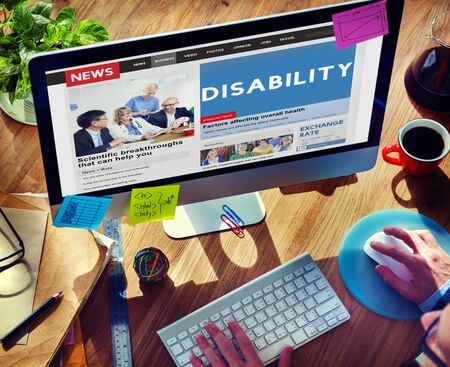 special education: Disability Disabled Disorder Medical Mental Special Concept Stock Photo