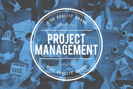 coordination: Project Management Strategy Coordination Business Concept Stock Photo