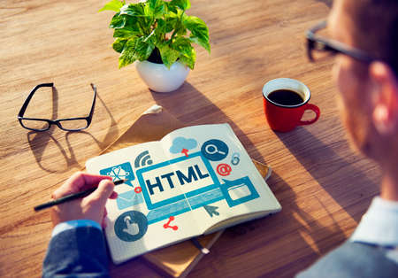 html: HTML Internet Coding Website Software Concept Stock Photo