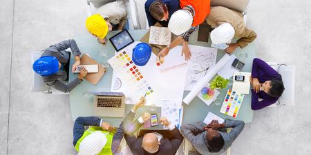 ビジネス人々 のデザイナーや建築家のコンセプトを作業