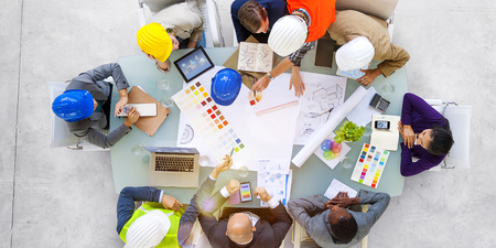 Business People Designers and Architects Working Concept Stock Photo