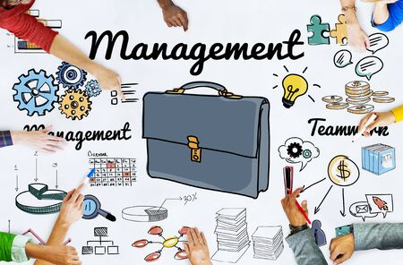 controlling: Management Manager Controlling Leadership Concept Stock Photo