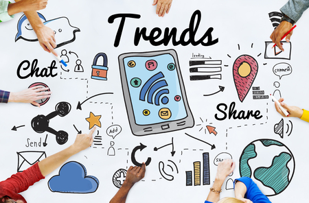 Trends Trend Trending Trendy Fashion Style Design Concept 스톡 콘텐츠