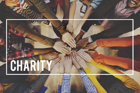 Charity Welfare Donation Generosity Support Give Help Concept Archivio Fotografico