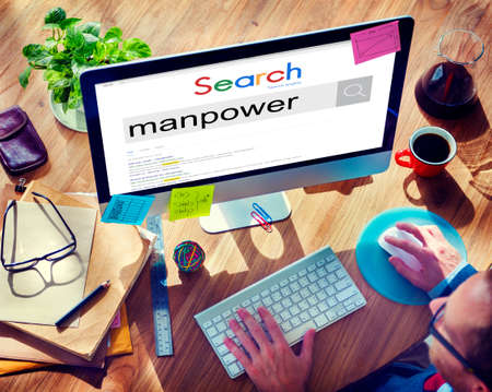manpower: Manpower People Management Personnel Staff Concept
