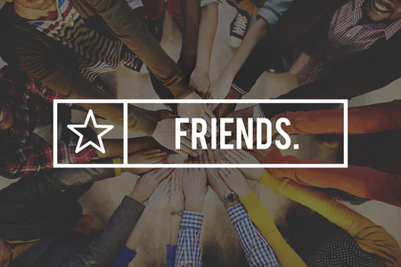 pandilleros: Amigos amistad amistoso Concepto Grupo cuadrilla Foto de archivo