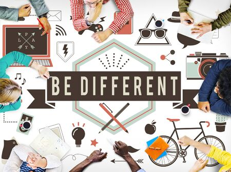 be the change: Be Different Ideas Significant Effect Change Difference Concept