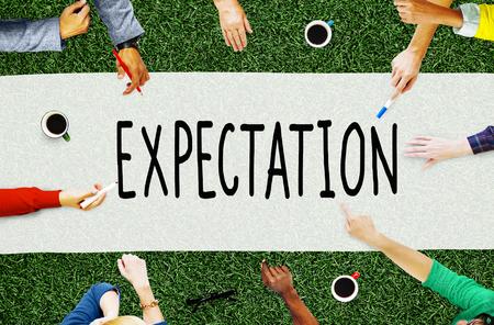 기대 예측 희망 전략 계획 개념