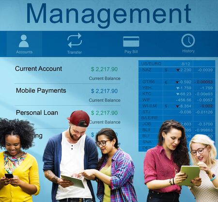money management: Management Supervising Strategy Leadership Dealing Concept Stock Photo