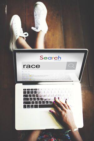 racial diversity: Race Racial Ethnicity Diversity Associate Community Concept Stock Photo