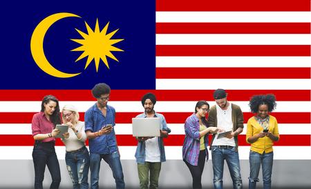 マレーシア国旗自由国家概念