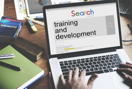 skill: Training and Development Skill Learning Improvement Concept Stock Photo