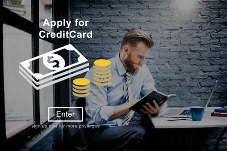 apply: Apply Credit Card Financial Graphics Concept