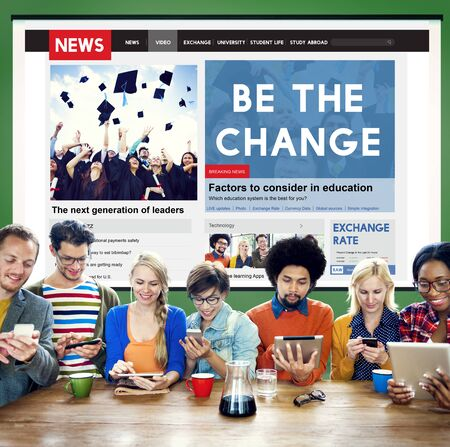 be the change: Be the Change Creativity Development Different Innovative Concept