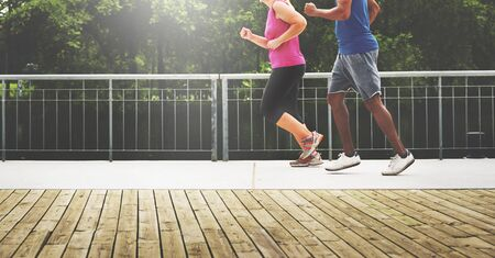 cardio: Activity Cardio Cheerful Couple Exercise Togetherness Concept