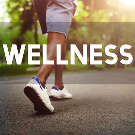 enjoyment: Wellness Wellbeing Running Enjoyment Exercising Concept