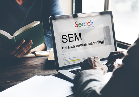 search engine marketing: SEM Search Engine Marketing Business Strategy Concept