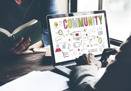 belonging: Community Society Sharing Communication Belonging Concept Stock Photo