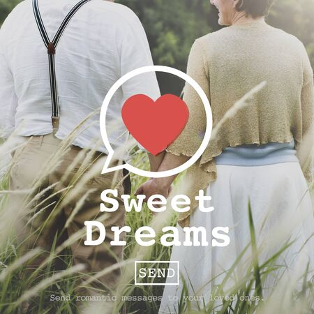 sweet dreams: Sweet Dreams Valentine Romance Love Heart Dating Concept