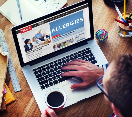 aversion: Allergies Reaction Aversion Medical Sensitive Concept