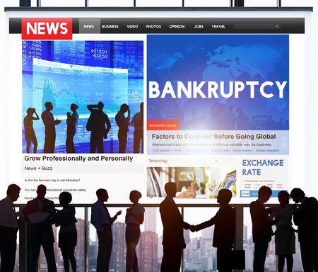 Bankruptcy Recession Loss Debt Money Finance Concept