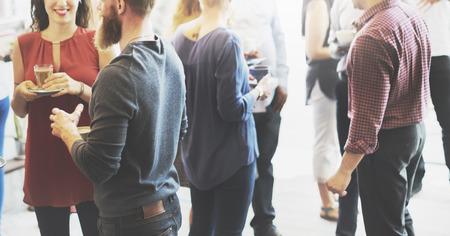 grupo de hombres: Concepto Coffee Break de visita del café de la celebración del partido del acontecimiento