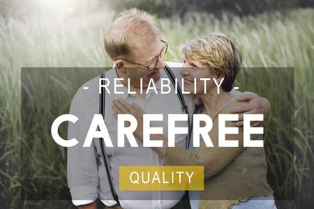the carefree: Carefree Reliability Quality Peace Life Living Concept
