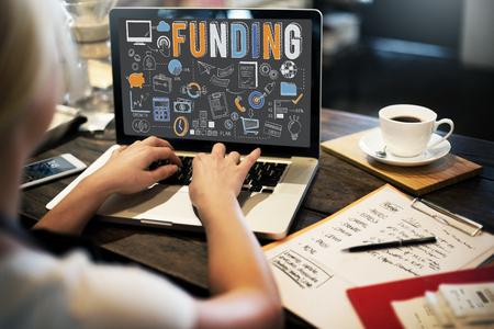 economia: Concepto financiación economía financiera Fondo de la colección Foto de archivo