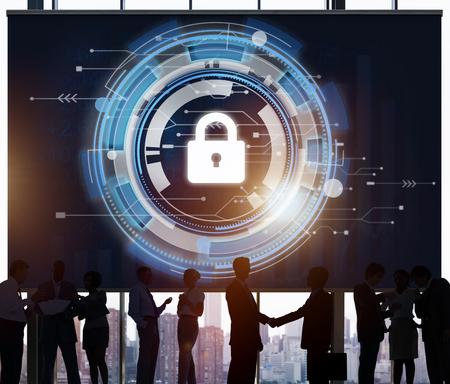 Protection de sécurité Technologie Cadenas Hud Concept