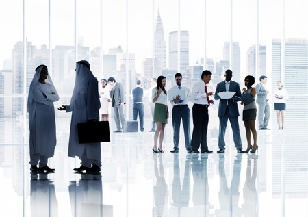 middle eastern ethnicity: Business People Working Working Corporate Concept Stock Photo
