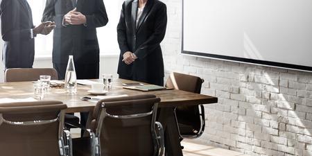 Business Group Meeting Dyskusja Strategia roboczy Concept