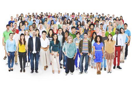 persona de pie: Diversa diversidad multiétnica Alegre Variación