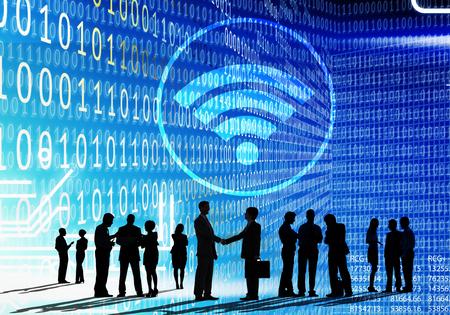 wifi: Wifi Hotspot Internet Network Signal Wireless Digital Concept