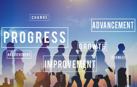 mision: Desarrollo Progreso Innovaci�n Concepto Improvment Foto de archivo