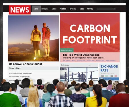 carbon footprint: Carbon Footprint Environmental Conservation Concept