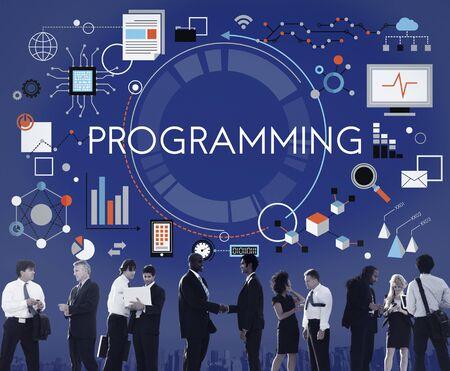 computer program: Programming Digital Computer Program Media Software Concept Stock Photo